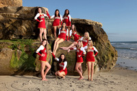 Mission Hills High School (MHHS) - Varsity Gold Dance Team - Carlsbad Beach - March 2016